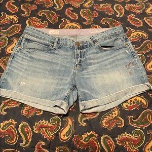 Gap Embroidered Boyfriend Shorts